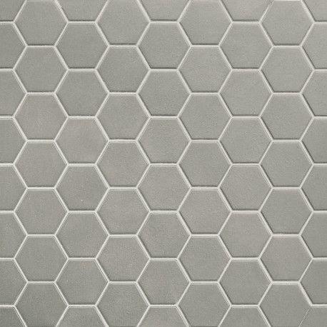 Mosaique Hexagonale En Gres Cerame Taupe Wild Sage Mat Sol Et Mur En 2020 Sol Et Mur Hexagonaux Sol