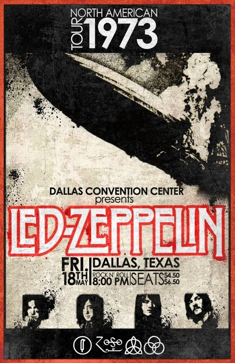 Led Zeppelin Concert Poster..feb16