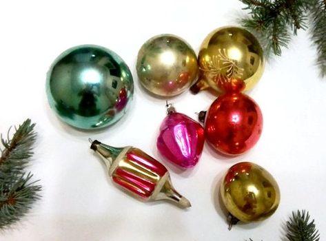 7 Vintage Christmas Decoration Soviet