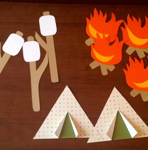 Camping theme hallway #RA #doordecs