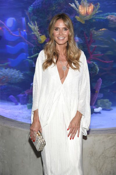 Model Heidi Klum attends a dinner at Ocean Resort Casino.