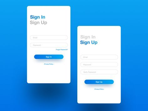 Sign In Sign Up Form Android Design App Design Android App Design