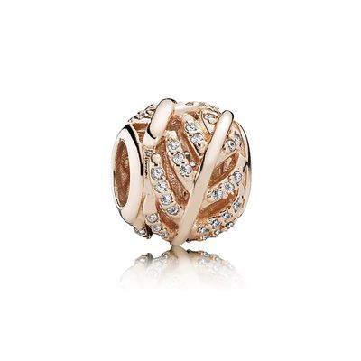Light As A Feather Pandora Rose Clear Cz Giftryapp Pandora Charms Rose Gold Pandora Bracelet Charms Pandora Rose Gold