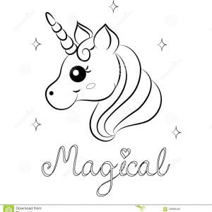 Printable Unicorn Coloring Pages Vector Display
