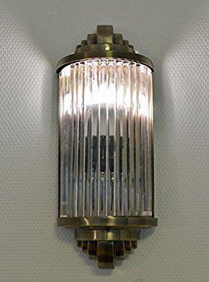 Deco Bauhaus Style Lampe Applique Verre Murale Art Bâtonnets On0kwP
