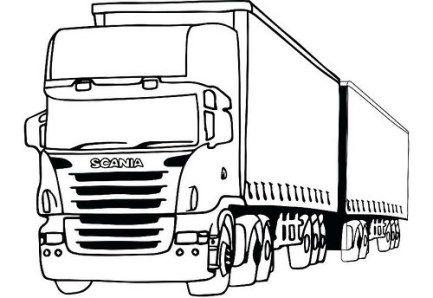 Dibujos De Trailers Para Colorear Imagenes De Camiones Para Pintar Blogicars Autos Carros Co Dibujos De Autos Faciles Dibujos De Coches Dibujos De Autos