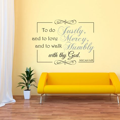 Micah 6:8 scripture vinyl wall art | Divine Walls