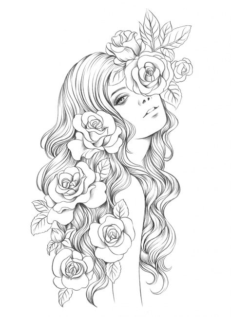 ✔ Tattoo Back Color Colour Fairy Coloring Pages, Free Adult Coloring Pages, Colouring Pics, Coloring Books, Pencil Art Drawings, Art Drawings Sketches, Cute Drawings, Fairy Drawings, Prima Marketing