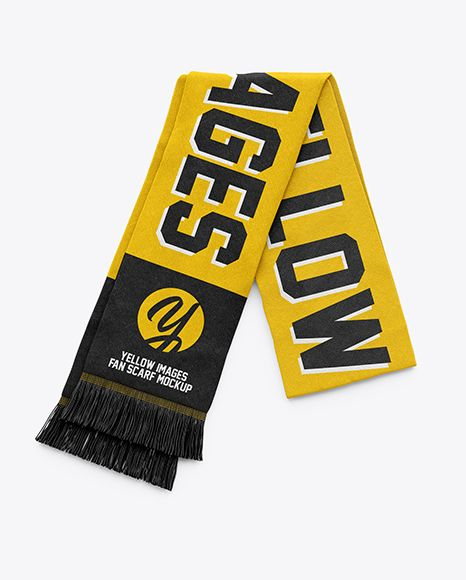 Download Fan Scarf Mockup Top View In Apparel Mockups On Yellow Images Object Mockups Clothing Mockup Mockup Free Psd Mockup Psd PSD Mockup Templates