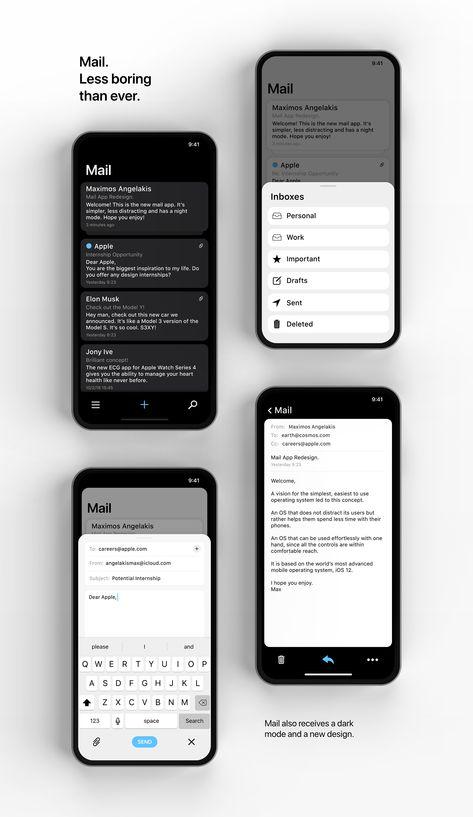 iOS 13 / phoneOS on Behance