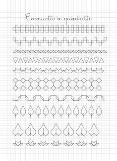 Cornicette e disegni a quadretti Más