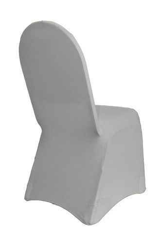 White STRETCH SCUBA BANQUET CHAIR COVER Wedding Catering Party Supplies Dinner