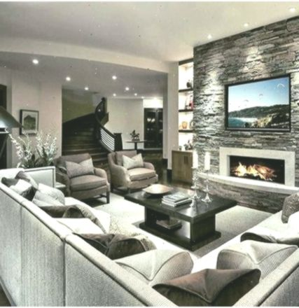 36 Stunning Family Room Ideas With Fireplace Paijo Network Livingroomideas Family Fireplace Idea Fireplace Design Living Room With Fireplace Family Room