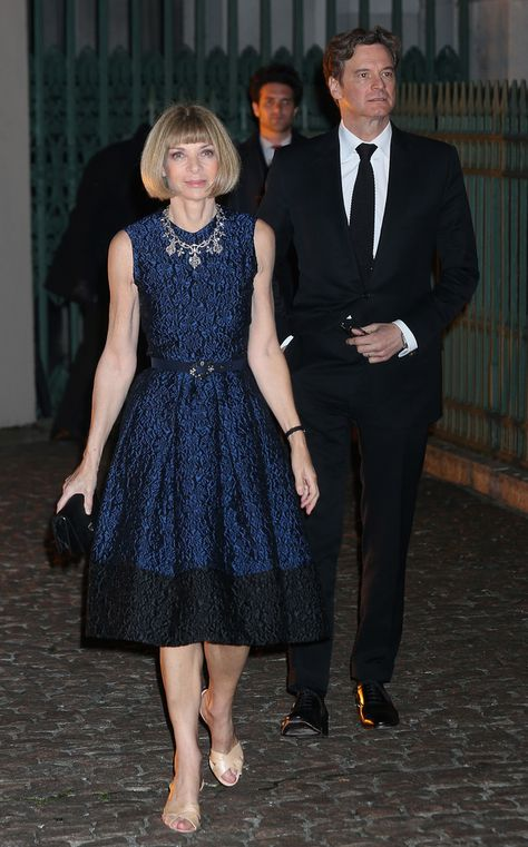 Colin Firth Photos - Colin Firth and Anna Wintour attend an evening celebrating with The Global Fund featuring the first green carpet challenge at Apsley House on September 2013 in London, England. - Arrivals at the Global Fund Event in London