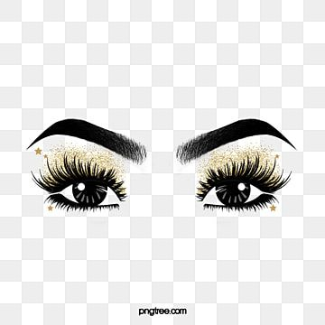 Hand Painted Black Curled Thick Eyelashes Eye Makeup Eyes Black And White Hand Painted Eyelash Png Transparent Clipart Image And Psd File For Free Download Makeup Clipart Makeup Artist Logo Thicker
