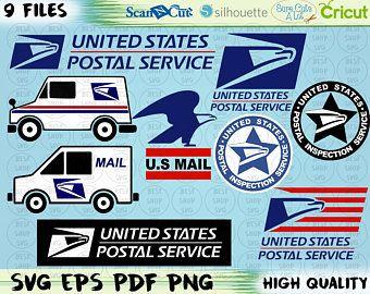 Postal Logo Etsy Postal Service Logo Postal Cricut Projects Beginner