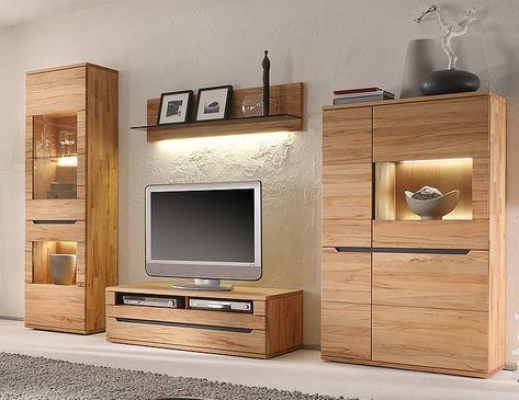 Die Wohnwand Furs Wohnzimmer Aus Unserer Massivholzmobel