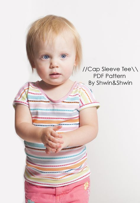 ShwinShwin: Cap Sleeve Baby Tee    Free Pattern    Summer Coll...
