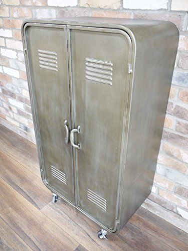 Industrial Factory Style Metal Locker Storage Cabinet Cupboard