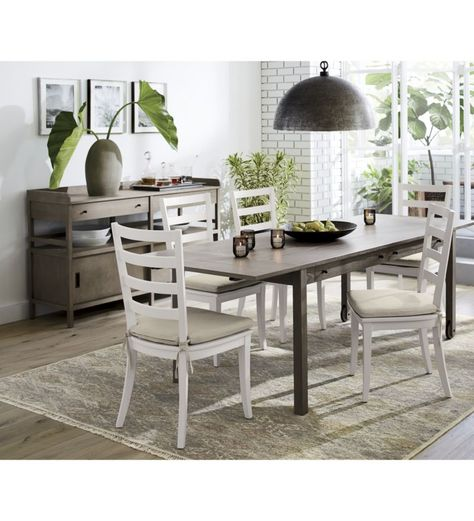 b2839a6899ce0 Harper White Ladder Back Dining Chair - Crate and Barrel