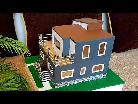 طريقة صنع بيت من الكرتون روعة How To Make A Beautiful Mansion House From Cardboard Youtube Cardboard House Diy Crafts Crafts