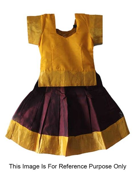 447807ecb2e7 Shop Online Wine Cotton Silk  GirlsTraditionalWear  Chennaistore.com ...