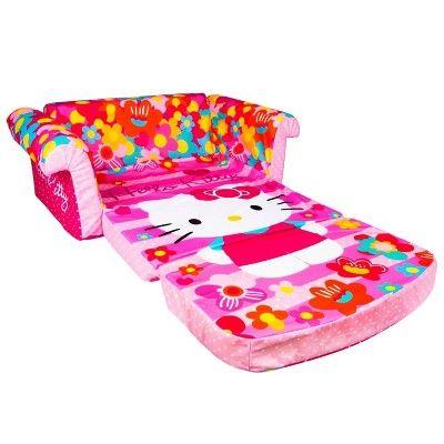 Marshmallow Fun Co Hello Kitty Furniture Flip Open Sofa Hello