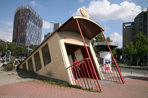Bockenheimer Warte subway entrance in Frankfurt, Germany