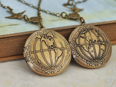 locket necklace set of 2  YOU COMPLETE My WORLD  by plasticouture, $50.00