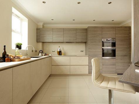 AlnoStar Cera kitchen with Ceramic worktops Pale ceramic AlnoStar - alno küchen grifflos