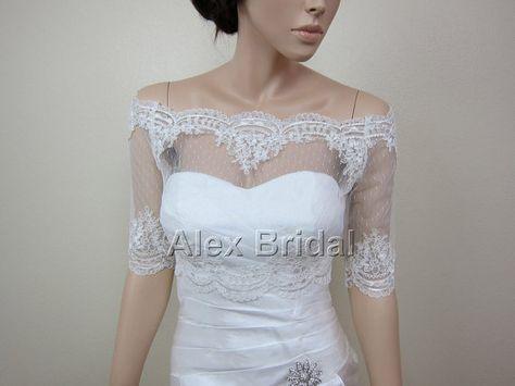 festivals prom shrug with long big sleeves Bridal Victorian Vampire Elegant Burlesque Lolita ivory LACE BOLERO cape wedding