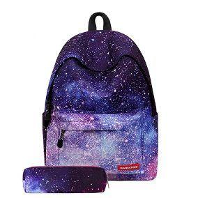 Mochila Bolsa Juvenil Mujer Espace Galaxy Estrellas ...