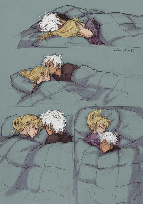 i don't really ship a couple until i've drawn them cuddling