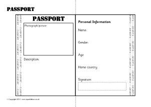 Passport Templates Word Excel Pdf Formats With Images