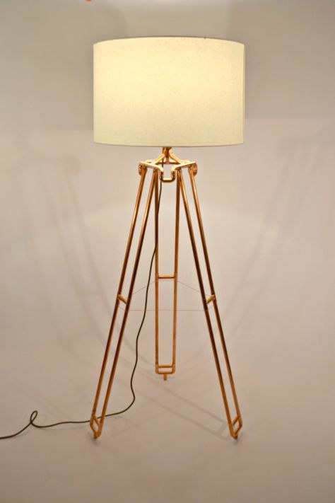Dual Leg Large Tripod Lamp By Atdcoppercreations Lampe Diy