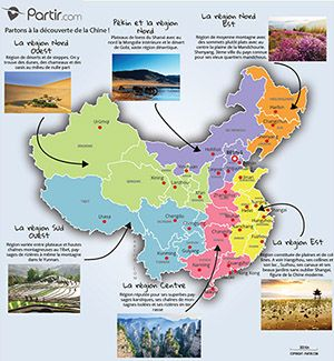 Carte Chine Region Chine Carte Carte De La Chine Voyage En Chine