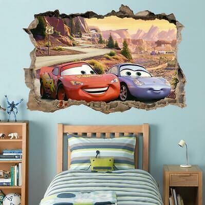 Cars Movie 3 Smashed Wall Sticker Graphic Decal Art Disney Mcqueen J215 Disney Wall Decals Disney Cars Room Cars Room