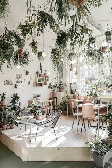 restaurant-with-plants-binti-home-gardenista | indoor garden | #indoorgarden | garden ideas | #gardenideas | garden design ideas | #gardendesignideas