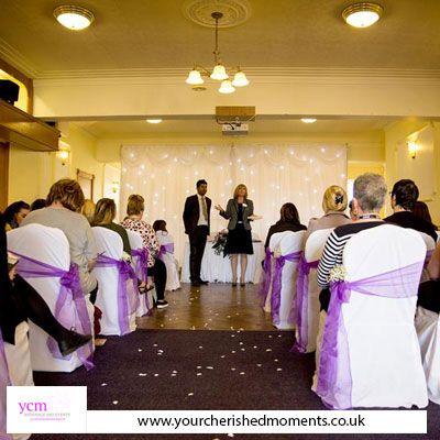 Wedding Civil Ceremony Set Up At Nantwich Civic Hall