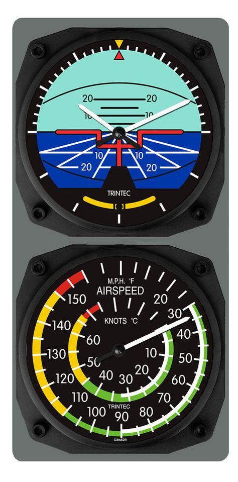 Us 52 76 New In Ebay Motors Parts Accessories Aviation Parts Accessories Aircraft Clock Pilots Aviation