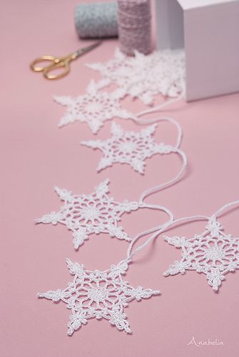 Ravelry: Snowflake garland nr 4 pattern by Anabelia Handmade
