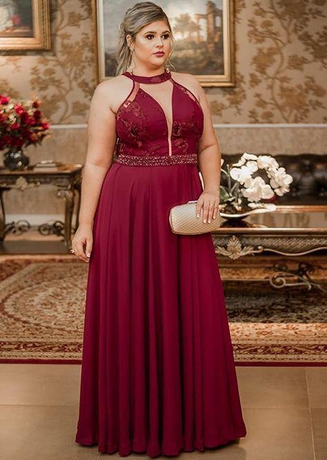 0055c666ae Vestido de festa plus size: 10 modelos para usar em 2019 | Šaty ...