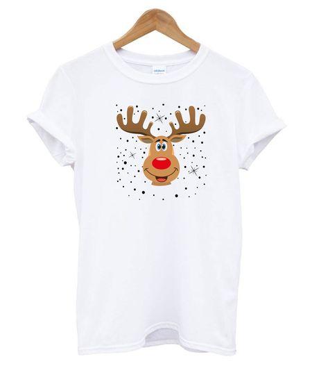 weihnachten rentier kopf t shirt  print clothes t shirt