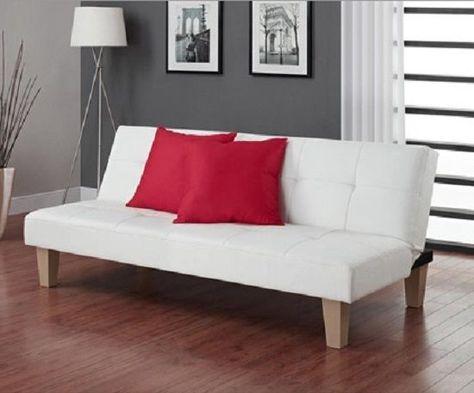 Faux Leather Futon Sofa Bed Sleeper