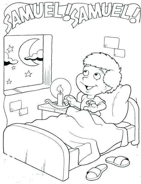 Samuel Hears God Coloring Page Bible Crafts Sunday School Bible