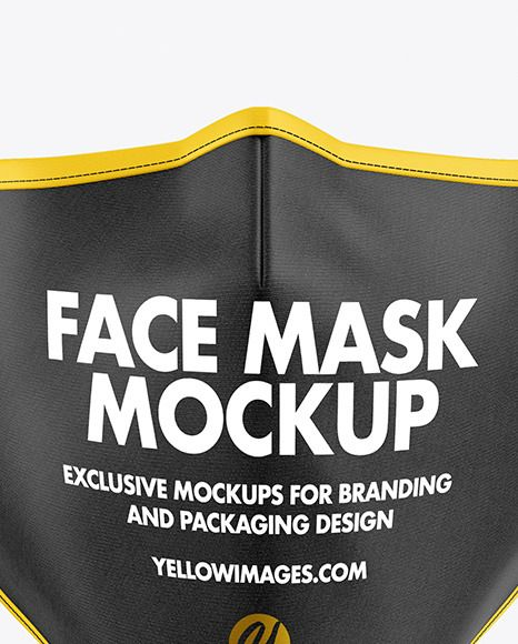 Face Mask Mockup In Apparel Mockups On Yellow Images Object Mockups Mockup Free Psd Psd Mockup Template Business Card Mock Up