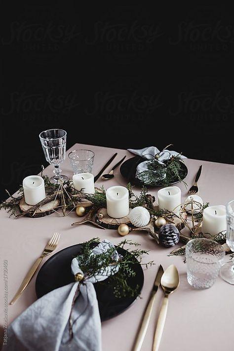 winter table setting. #Tischdeko