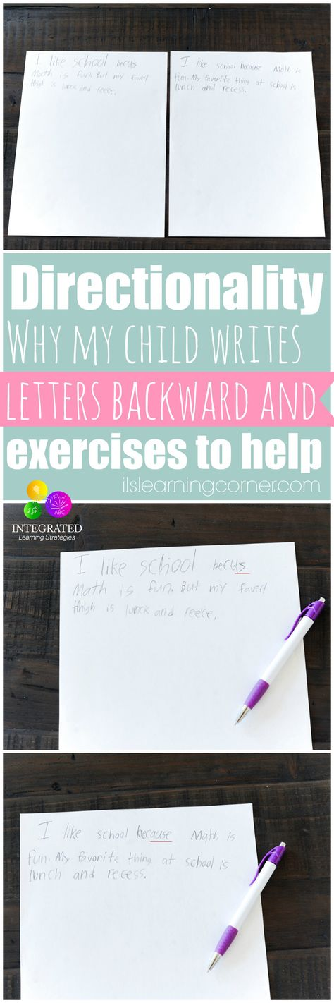 LETTER DIRECTIONALITY: Why Directionality and Writing Letters Backward is Part of a Greater Problem - Integrated Learning Strategies