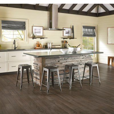 Armstrong Flooring Vivero Better Lock Vintage 6 X 48 4 07mm Walnut Luxury Vinyl Plank In Charcoal