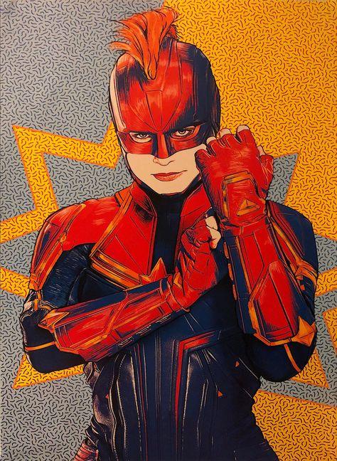 Captain Marvel Carol Danvers Brie Larson Marvel Universe Avengers Movie Poster Wall Art Home Decor Print